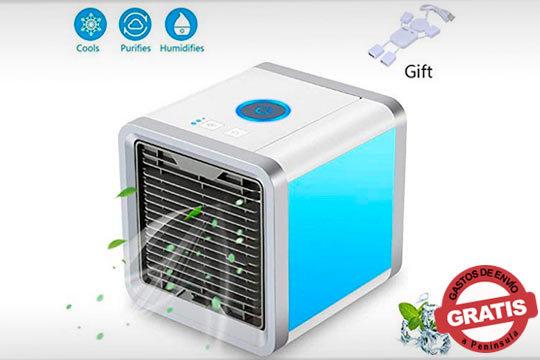 Un verano de lo más refrescante con el Aire Acondicinado Mini Led ¡Llena su depósito con agua y notarás como neutralizas el calor!