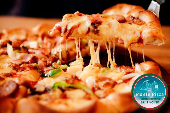 Menú italiano para 2 personas en Monte Pizza con pizza a elegir y bebidas incluidas ¡Mamma mía!