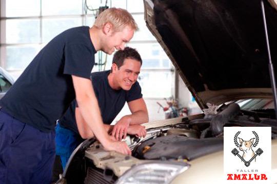 Viaja seguro tras la revisión completa de tu coche en Talleres Amalur ¡Añade cambio de aceite y filtro de aceite y aire!