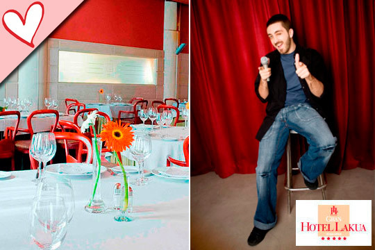 Especial San Valentín: Cena gourmet + monólogo ¡El 15 de febrero!