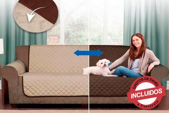 Protege tu sofá o sillón de pelos, manchas de comida y bebida y mucho más con este práctico protector reversible ¡Estará siempre como nuevo!