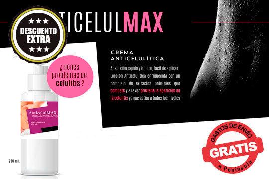 Combate la celulitis y la piel de naranja con la efectiva crema Anticelulmax ¡1 o 4 envases!