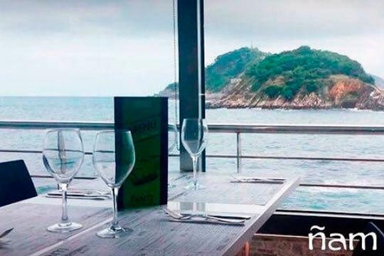 Nuevo menú de 6 platos mar y tierra en Ñam Donosti (Peine del viento)