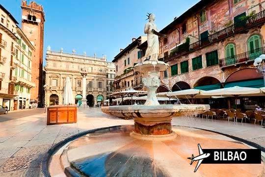 Del 15 al 21 de agosto descubre el norte de Italia: Milán, Bolonia, Venecia, Lago di Como y di Garda...