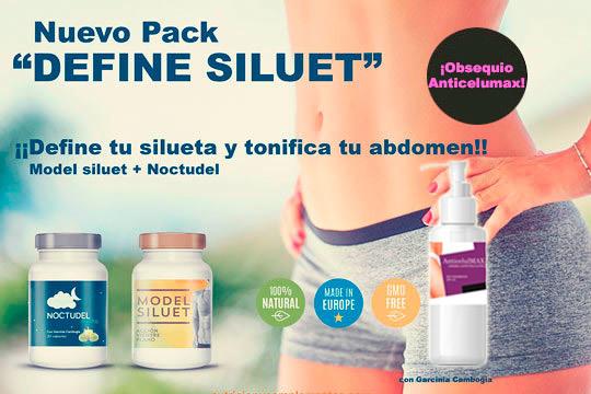 Con el nuevo pack Define Siluet podrás presumir de vientre plano y tonificado ¡Por la compra de 1 pack regalo de crema Anticelulítica 250 ml de obsequio Aniversario!