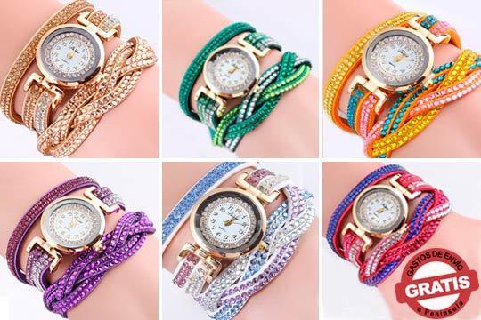 Marca estilo en tu día a día con el reloj Leah Wrap ¡Con correa de cuero PU apta para veganos!