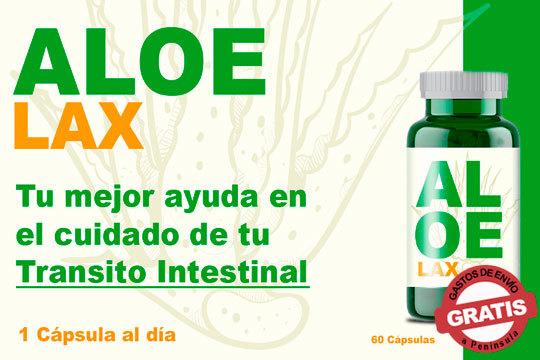 Mejora tu tránsito intestinal gracias a Aloe Lax, un complemento alimenticio natural que ayuda en la regularización del tránsito y evita el estreñimiento ¡Elige entre 1, 2 o 3 unidades!