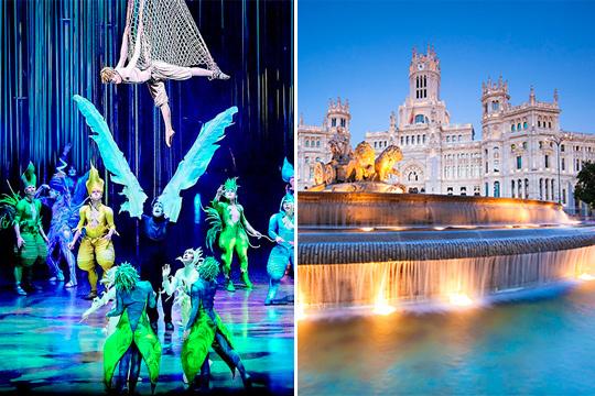 ¡Vive unos días maravillosos en la capital de Reino! Salida en autobús desde Bilbao o Vitoria + Noche con desayunao + Entrada al Circo del Sol