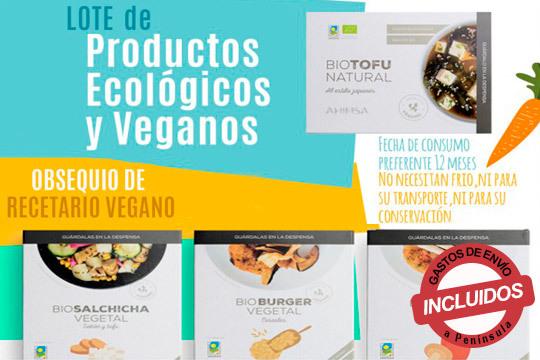 Productos elaborados con frutas, verduras, cereales... que se han producido a través de la agricultura ecológica ¡Elige entre 1 o 2 lotes y experimenta en tu paladar sabores frescos!