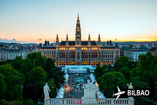 Pon rumbo a Viena con esta oferta con vuelo desde Bilbao y alojamiento de 3 días en hotel con desayunos ¡En julio o septiembre!