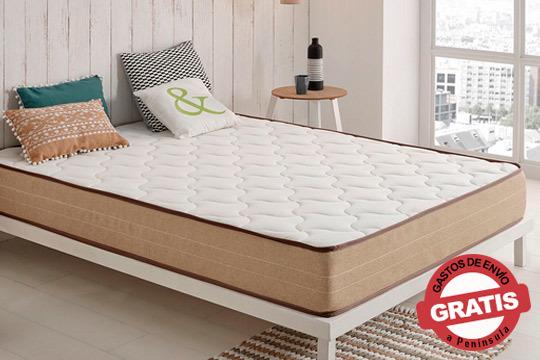 Consigue un descanso de calidad gracias al magnífico colchón Bamboo Memory Nature con dos firmezas diferentes y material viscosoft ¡Descanso total antiestrés!