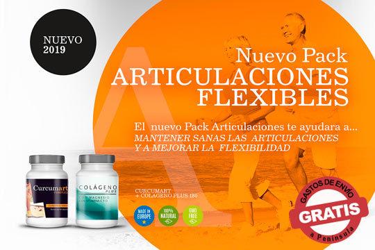 ¡Prueba este nuevo pack saludable! Pack de 1 o 2 unidades de Curcumart Complex + Colágeno plus para disfrutar de articulaciones más flexibles