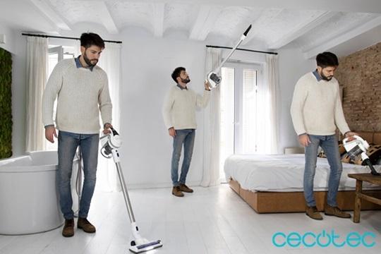¡Aspirador 3 en 1 sin cables! Puedes utilizarlo en modo vertical, escoba y de mano, tu gran aliado en casa gracias a su gran poder de succión