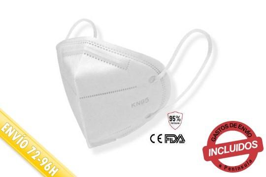 Mascarillas autofiltrantes KN95 con protección FPP2, ideales para la seguridad de personal sanitario,de profesionales expuestos acontagio y para uso personal ¡Pack de 5, 10, 50 0 100!