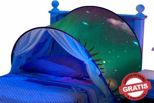 Un nuevo espacio privado para divertirse o relajarse en su propia cama y habitación ¡Dispone de luz de lectura!