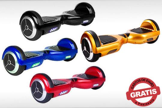 Patinete Hoverboard ligero y resistente ¡Tu medio de transporte que no contamina y con altavoces para escuchar tu música favorita!