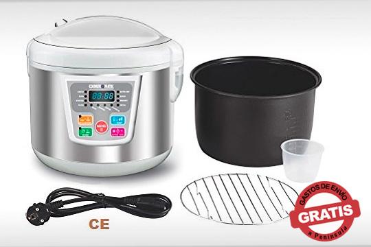 El robot de cocina Cookermatic cuenta con 14 menús programados, función de auto-limpieza y un montón de accesorios ¡Cocina sano, fácil y variado!