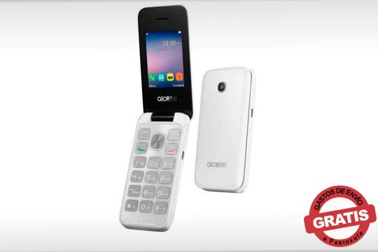 Con este teléfono Alcatel 2051d en color blanco estarás siempre conectado ¡Perfecto para quienes busquen un aparato sencillo y funcional!