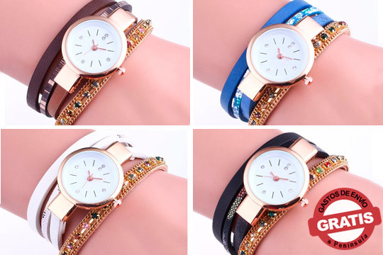 Marca tendencia con este reloj Mayra Wrap Watches de corte clásico ¡En color azul, blanco, rosa o marrón!