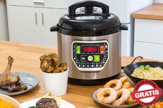 Olla GM con 19 maneras de cocinar mediante guía de voz incorporada ¡Nunca tener la comida preparada fue tan fácil y rápido!