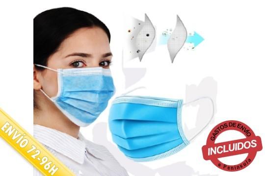 Mascarillas de protección individual que filtran las partículas emitidas a través de la respiración ¡Incluye envío!