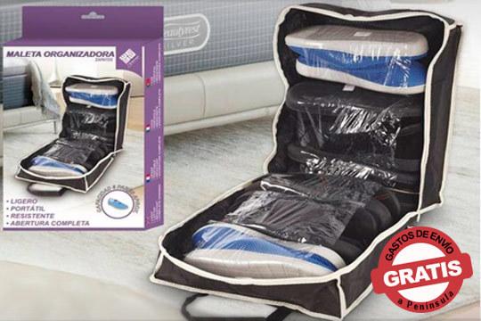 Organiza cómodamente tus zapatos en la maleta y ahorra espacio ¡Ligero, portátil y con abertura completa!
