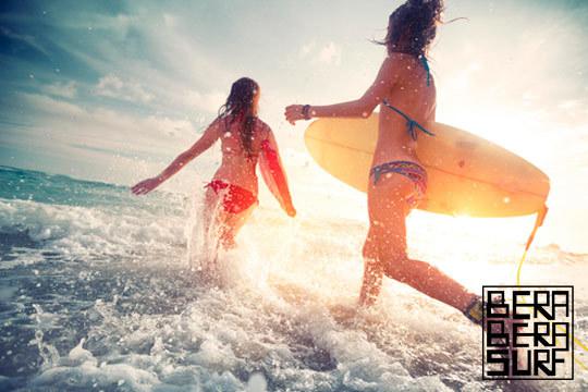 Aprende a surfear y vive la experiencia de estar encima de una ola con un bautismo de surf o un curso de 5 días o fin de semana en Bera Bera Surf ¡Una sensación indescriptible!