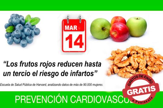 Celebra que el día 14 de marzo es el Día Europeo de la salud cardiovascular con este pack de arándanos de Huelva, nueces peladas y manzanas ¡Te lo llevan a casa!