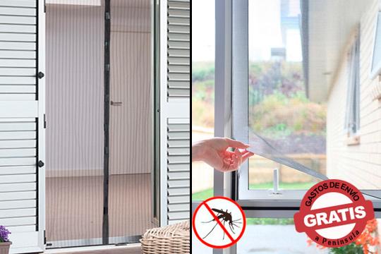 Olvídate de tener tu casa cerrada a cal y canto para que no entren mosquitos ¡Mosquitera para puertas y ventanas adhesivas!