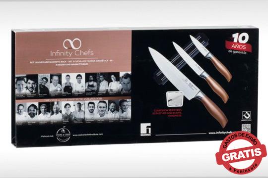 Cocina con utensilios profesionales gracias a este set de cuchillos Infinity Chef ¡De la nueva línea de cocina Bergner!