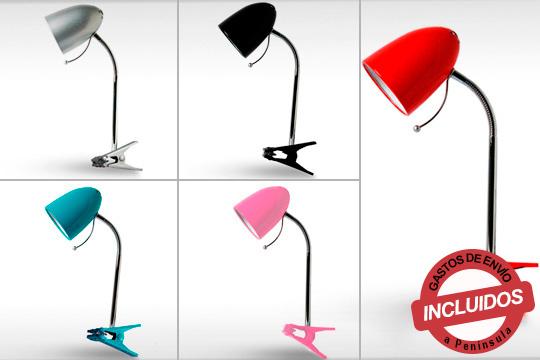 Disfruta de la mejor luz en toda la casa gracias al Flexo Pin ¡Disponible en rosa, rojo, negro, gris y azul!