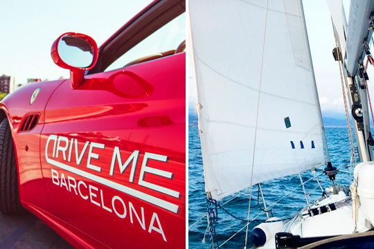 ¡No te imagines pilotando un Ferrari y hazlo ya la realidad! Drive me te propone una experiencia de conducción de un deportivo y un paseo en velero en Barcelona