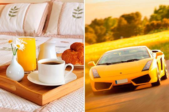 Te proponemos un plan romántico y diferente: Noche en hotel con desayuno + ruta en Porsche, Corvette o Ferrari + opción a comida de lujo ¡Un regalo perfecto!
