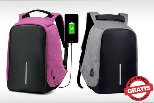 Protege tus pertenencias y evita sustos gracias a esta mochila antirrobo ¡Elige entre el color morado o gris!