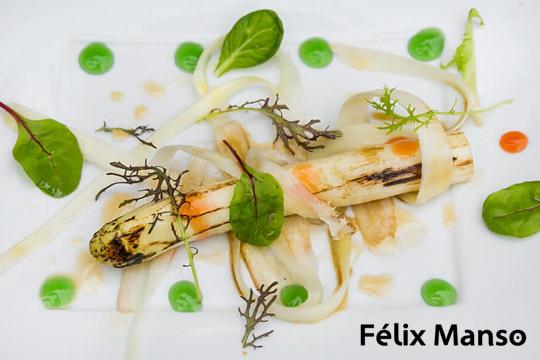 ¡Nuevo menú! especial vegetariano de la manodel chef Félix Manso