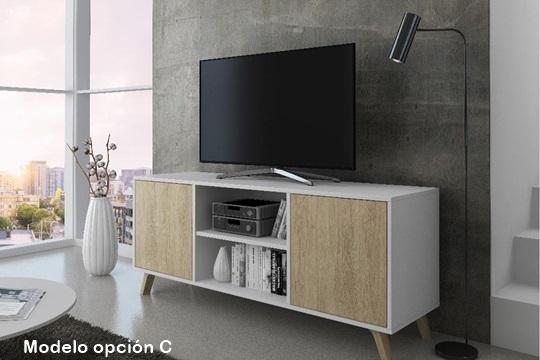 El tamaño en combinación con la funcionalidad y el diseño, hacen que el mueble TV 140 WIND sea elegante e ideal para colocar su salón.