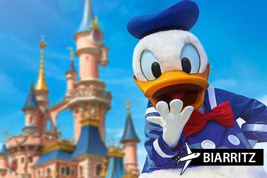 ¡Entrada para 2 días a 2 parques Disney este invierno! Incluye también vuelo desde Biarritz y alojamiento en un confortable hotel con transfer gratuito al parque
