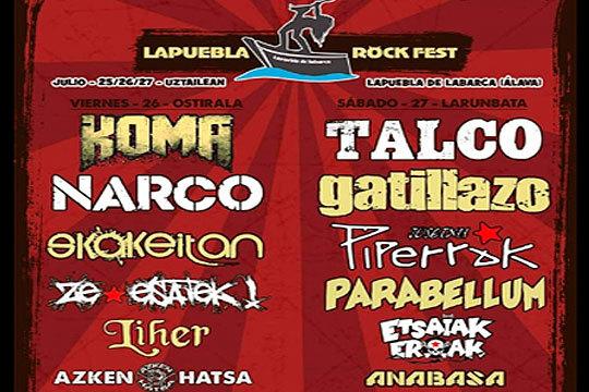 ¡Arriba los decibelios con el festival de Rock de Lapuebla 2019! Tendrás la oprtunidad de ver en concierto a bandas de música como Narco, Azken Hasta, Talco o Anabasa, entre otras