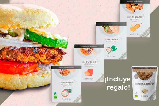 Mejora tu dieta con estas riquísimas hamburguesas ecológicas y 100% veganas ¡Elige entre envío normal o exprés!