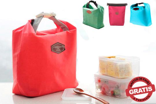 Cuida el medio ambiente, ahorra dinero y come casero con esta práctica bolsa de almuerzo ¡Elige entre los colores verde, azul, rosa y rojo!