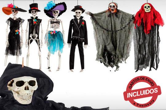 ¡Decora tu casa para la fiesta más terrorífica del año! Esqueletos colgantes para asustar a tus invitados en varios modelos