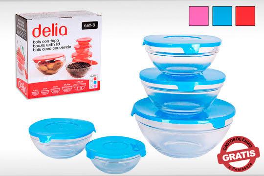 Lleva tu comida en un práctico bol de cristal de gran calidad ¡Aptos para lavavajillas y microondas!