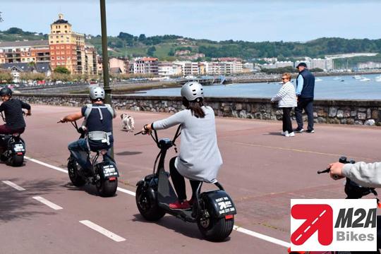 Visita Hondarribia y muévete en vehículos 100% ecológicos ¡Conoce los puntos de interés de la ciudad mientras te diviertes con los vehículos de moda!