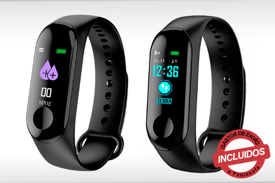 Mide tu actividad diaria con el reloj Fitness Sport: mide calorias, distancia recorrida, presión arterial y mucho más ¡Elige entre 1 o 2 unidades!