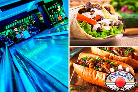 ¡Velada divertida y competitiva en Bolera Pagazuri! Partida de bolos + alquiler de calzado + cena de hot dog o burrito mejicano