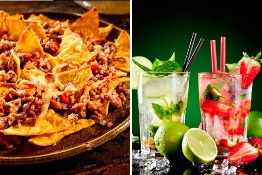 Prueba las mejores bebidas jamaicanas en Taberna Nesta Marley y acompañalas con una deliciosa ración de patatas, nachos o alitas ¡Un plan perfecto para dos personas!