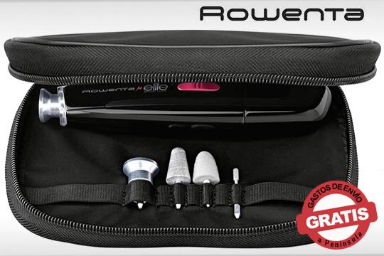 Set de Manicura y Pedicura Rowenta con bolsa de viaje par guardar fácilmente y llevarlo a cualquier lugar