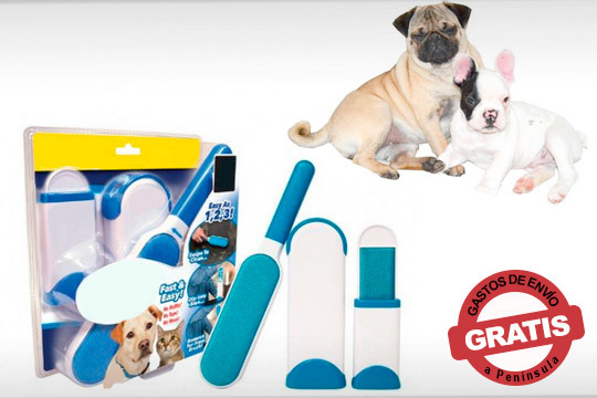 Olvídate de los pelos de tu mascota que están por toda la casa ¡Hazte con este quitapelos reutilizable!