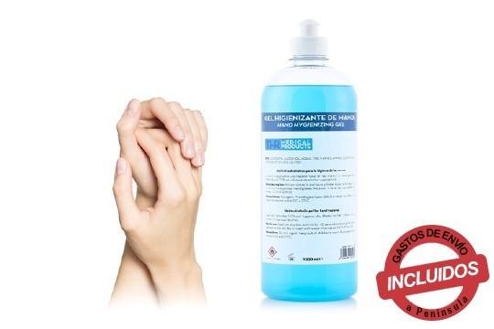 Gel antibacteriano de máxmima protección, ideal para la limpieza y desinfección de las manos ¡Con envío incluido!