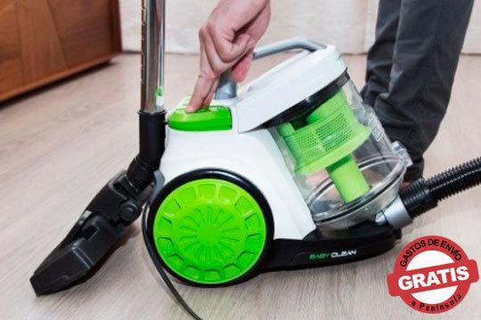 Consigue el novedoso aspirador trineo Conga Turbociclonic con gran potencia de succión ¡Limpia toda tu casa sin esfuerzo!